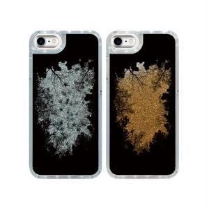 森の中から見上げた夜空 iPhoneグリッターケース