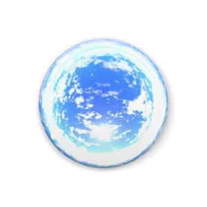 空の缶バッジ - C010