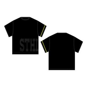 「STHL」ビッグシルエットTシャツ黒