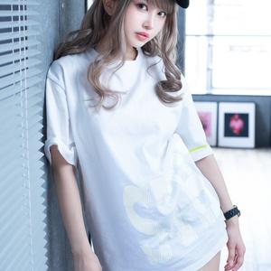 「STHL」ビッグシルエットTシャツ白