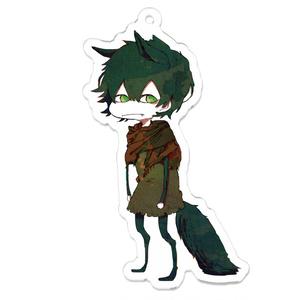 翡翠の狼 アクリルキーホルダー