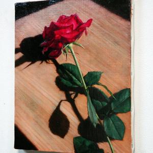 「横たわる薔薇」油絵 原画