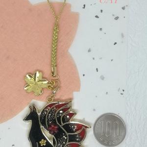 桜舞う🌸大人九尾の紅キツネ根付けストラップ