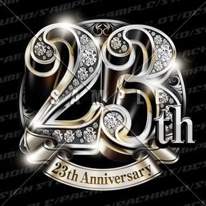 23周年PSD素材(豪華でキラキラPhotoshop素材)