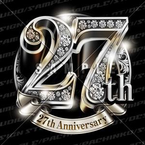 27周年PSD素材(豪華でキラキラPhotoshop素材)