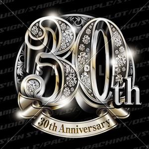 30周年PSD素材(豪華でキラキラPhotoshop素材)