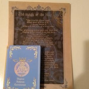 「青い薔薇の魔法」 アンティーク風ハードカバー豆本