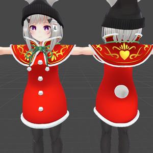 ウィンターキュートスタイルのクリスマスサンタ風テクスチャ
