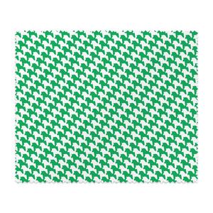千馬格子メガネ拭き(ホワイトXグリーン)