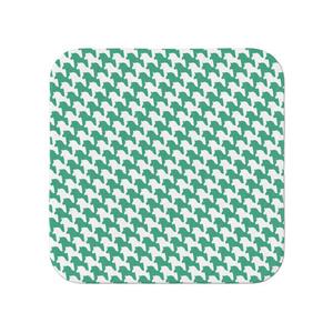 千馬格子タオル(ホワイトXグリーン)
