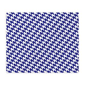 千馬格子メガネ拭き(ホワイトXブルー)