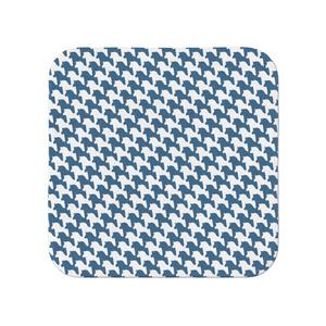 千馬格子タオル(ホワイトXブルー)