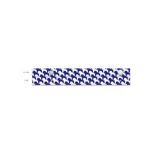千馬格子傘(ホワイトXブルー)