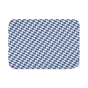 千馬格子ブランケット(ホワイトXブルー)