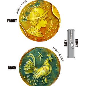 ヘルメスの偽造コイン風コインケース【レザー】
