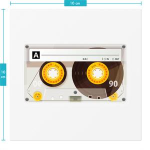 カセットテープステッカー(透明デザイン)