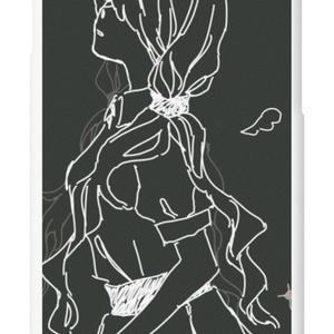 羽 iPhoneケース 灰・黒