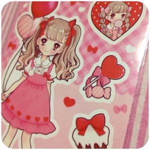 型抜きシール:sweet pink
