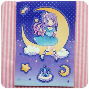 型抜きシール:dream blue