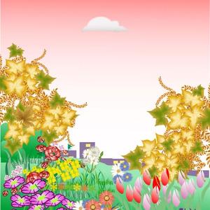 不気味な森と花畑