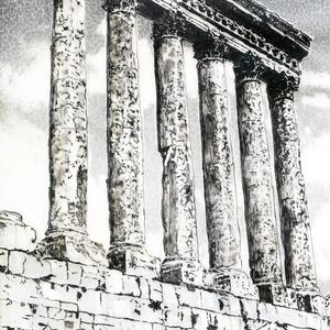 ギリシャ神殿跡 トレース