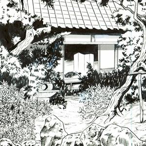 日本庭園縁側