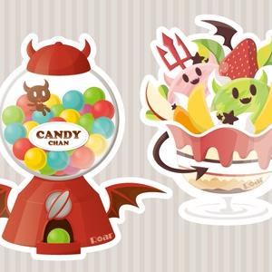 『お菓子の悪魔』アクリルキーホルダー
