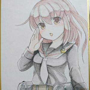 艦これ文月 手描きイラスト