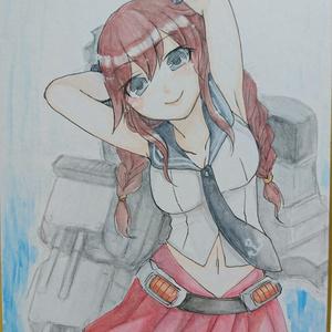 艦これ 能代 手描きイラスト