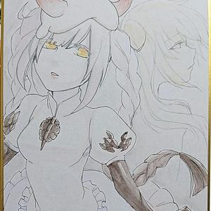 艦これ 深海雨雲姫 手描きイラスト