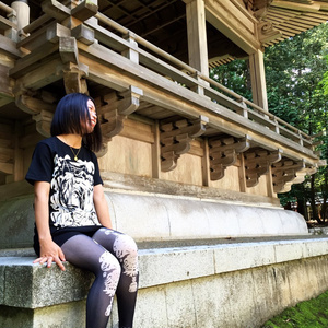 "T-Shirts ""ハコオンナ"" ホワイトインク"