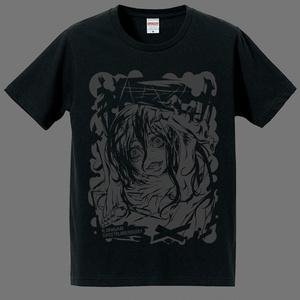 "T-Shirts ""ハコオンナ"" グレーインク"