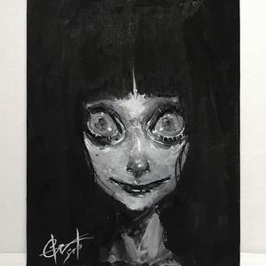"""A アクリル原画/F0サイズ/キャンバスボード """"Acrylic Painting"""" F0"""