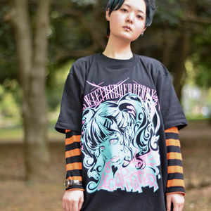 "T-Shirts ""GIRL is DECAPITATED"" エメラルドG"