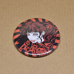 "缶バッジ ""GIRL is DECAPITATED"" 58mm"