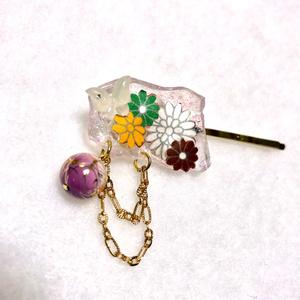 リサイクル素材 ヘアピン 京紫