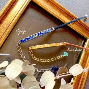 Yamanbagiri's rectangle bracelet・gem necklace