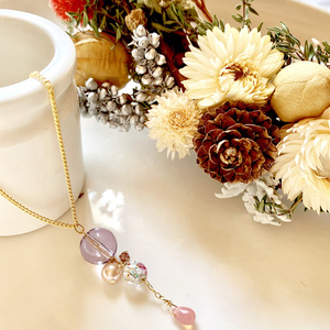 歌仙さんのお花いろいろ ガラス玉アクセサリー
