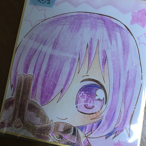 Fate マシュ 色紙