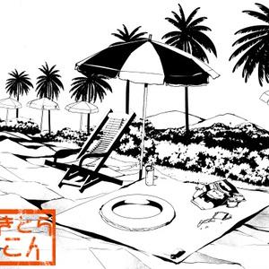 海辺、ビーチの背景素材