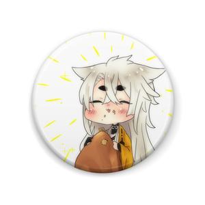 もぐもぐ小狐丸缶バッチ