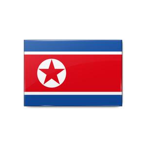 北朝鮮国旗 缶バッジ
