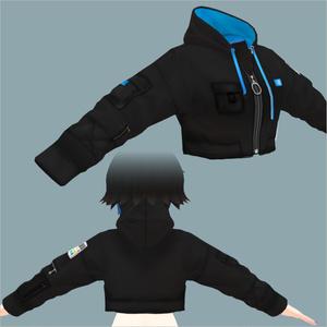 【VRoid用】ジップパーカーショート.ver【テクスチャ】