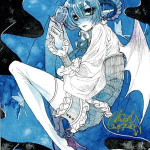 ドローイング原画「青色悪魔」