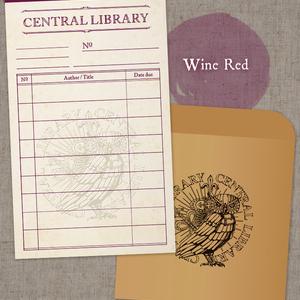 図書貸出票型メッセージカード【蔵書票シリーズ】(同人誌と一緒に購入してください)