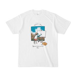スケッチTシャツ(真ん中プリント / 左胸プリント)