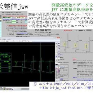ex高低差値jww