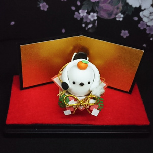 鶴丸国永(エナガ)お正月飾り
