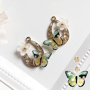 【新作】桜蝶の耳飾り