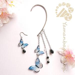 【新作】桜蝶のイヤーフック